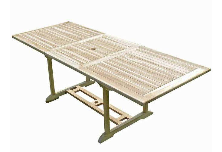 Salon de Jardin Bois Teck Table Extensible Rectangulaire 230 cm + 6 chaises