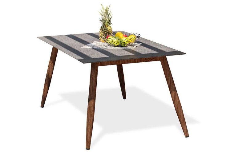 Table de Jardin Scandi Aluminium et Verre 160 x 90 cm