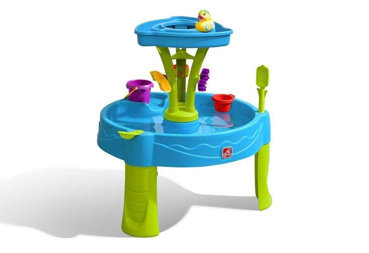 table d'activité jeux d'eau en plastique pour enfant bleu