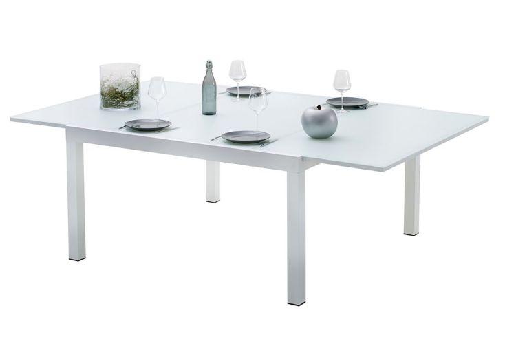 Beautiful table salon de jardin carre contemporary for Table extensible terrasse