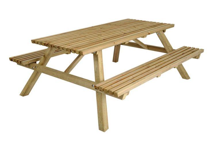Table de Pique Nique 170 cm Bois Autoclave FSC