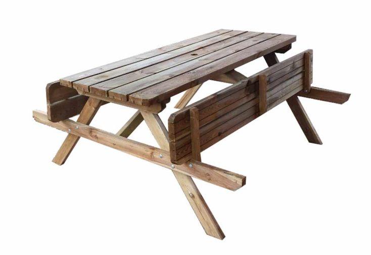 Table Pique Nique en Bois 38mm (180x165x75) - A partir de 25