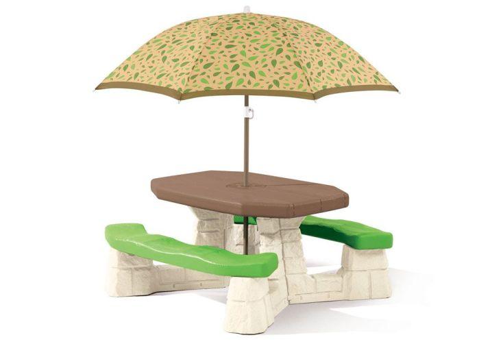 Table de Pique-Nique avec Parasol Brights