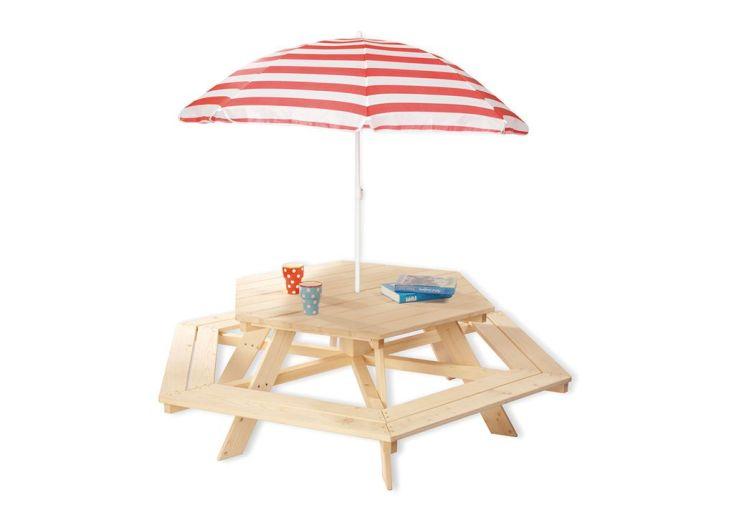 Table de Pique-Nique en Bois pour Enfant Nicki (6 Places)