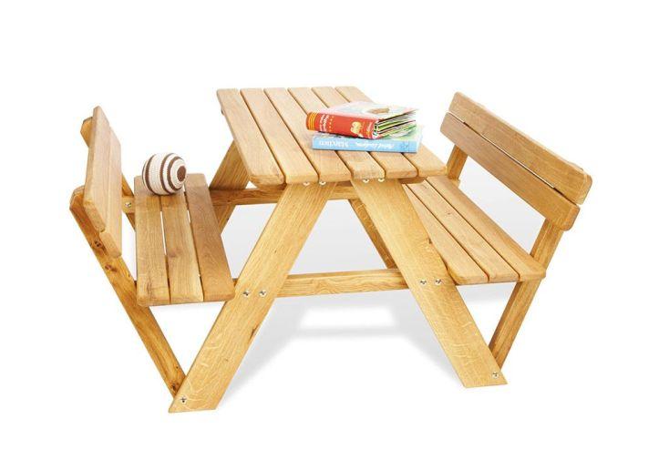 Table de Pique-Nique en Bois pour Enfant Lilli (4 Places)