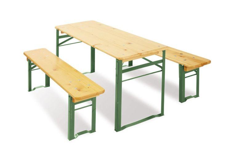 Table de Jardin pour Enfant Pliable + Bancs (6 Places)