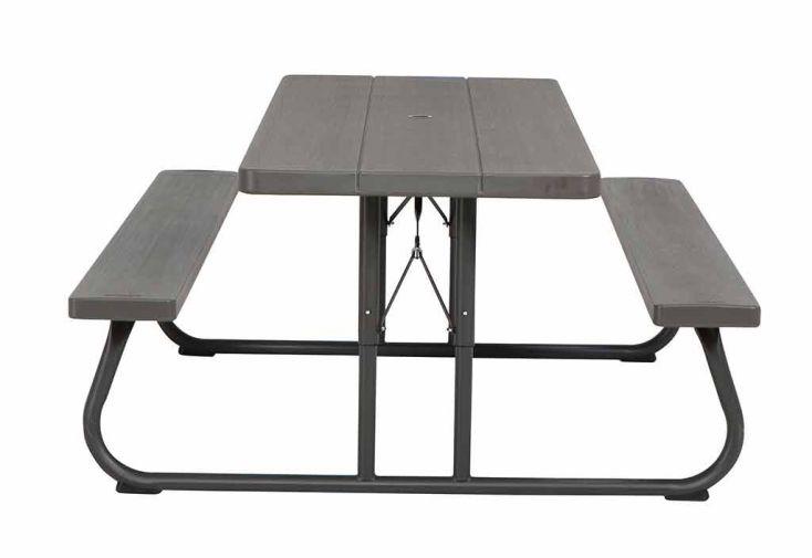 Table Résine Pliante 183x76 + bancs - Lifetime