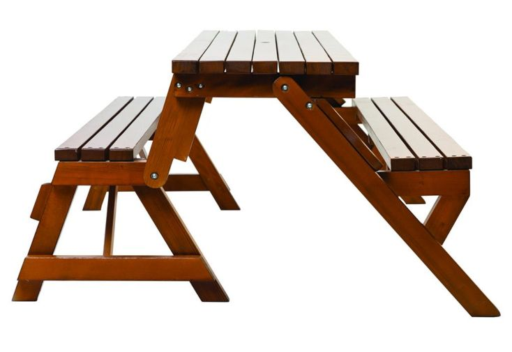 Table Pique-Nique Transformable en Banc Bois 195 cm Hossegor