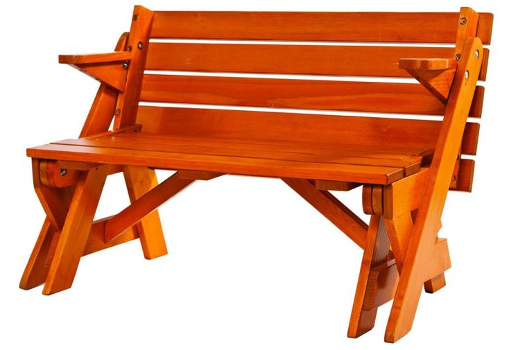 table pique nique transformable en banc bois 195 cm. Black Bedroom Furniture Sets. Home Design Ideas