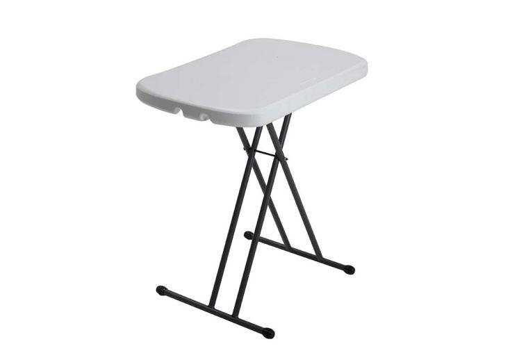 Table pliante ajustable en hauteur en acier et résine Lifetime