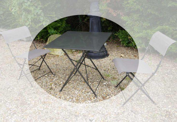 Table Pliante Métal Carrée Cytadine (70x70x71)
