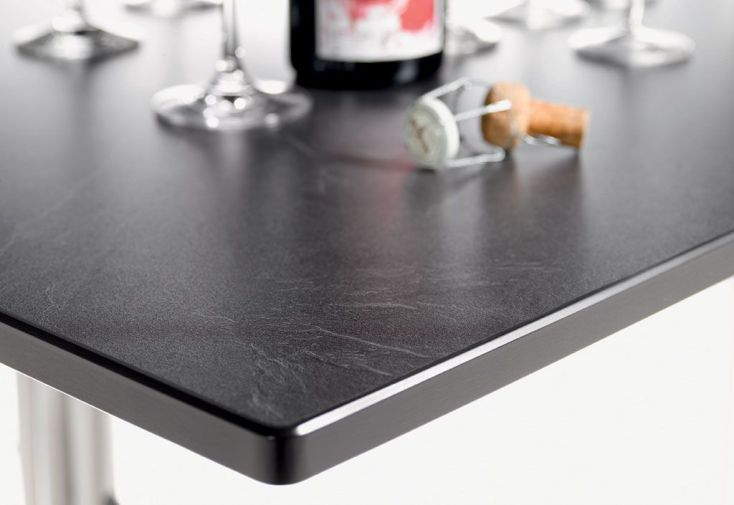 Table Extensible Puroplan Gris Anthracite (165/225/285x95cm)