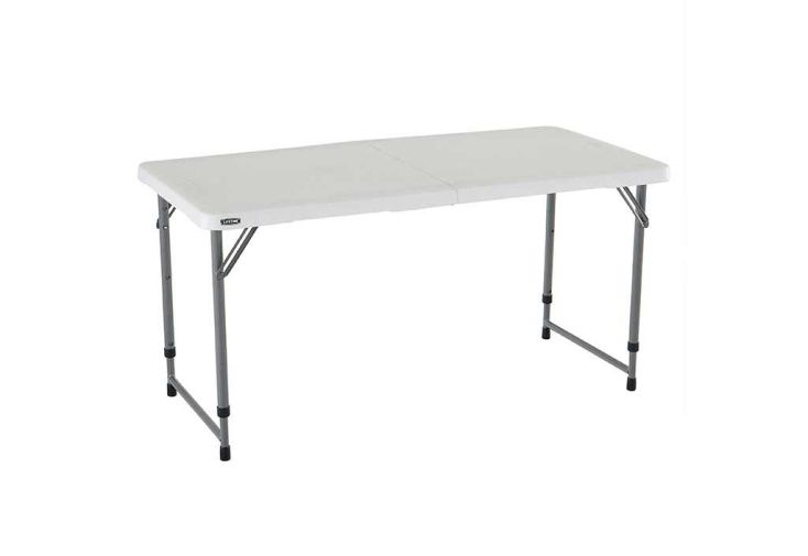 table valise en résine lifetime pour extérieur et intérieur