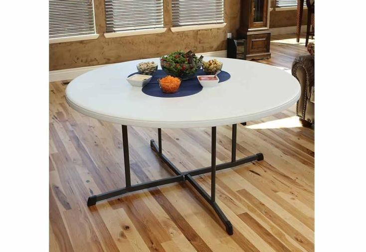 Lot de 12 Tables Rondes Pliantes en Résine Lifetime (D152 cm)