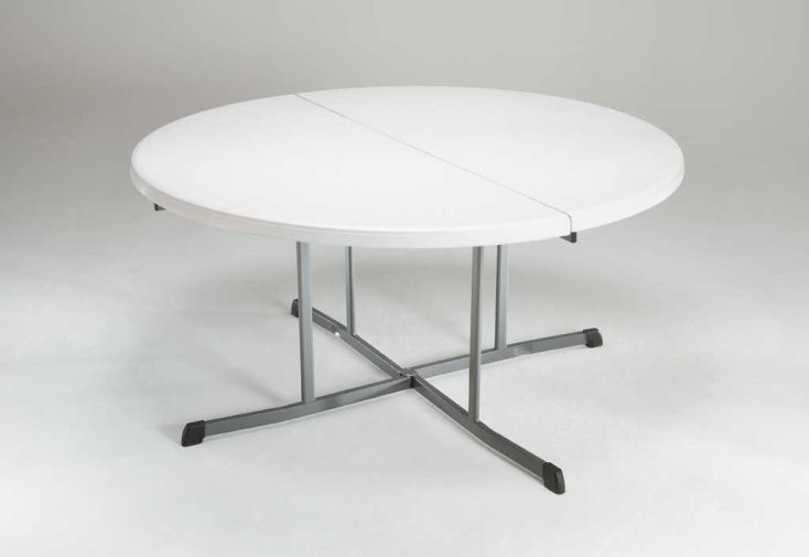 Table Résine Ronde Pliante Ambre D152 cm