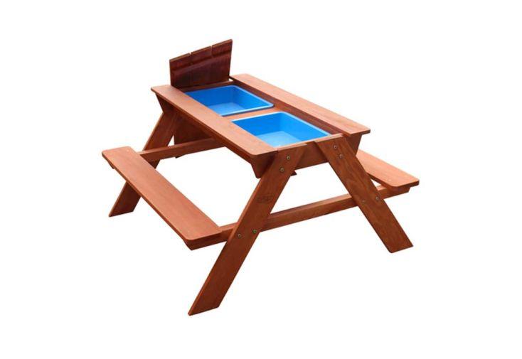 Table Sable et Eau Petite Table de Pique-Nique en Bois de Hemlock Sunny Dave