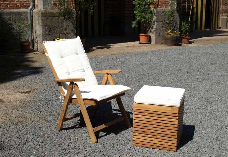 Chaise de Jardin en Teck Massif Vicio (lot de 2)