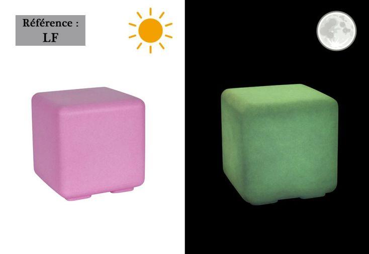 Cube de Jardin Lumineux Fluo Polyéthylène (plusieurs couleurs)