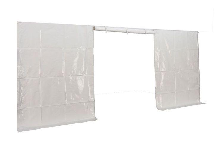 Mur Porte PVC Blanc 520 gr/m² 5x5 pour Tonnelle Pliante