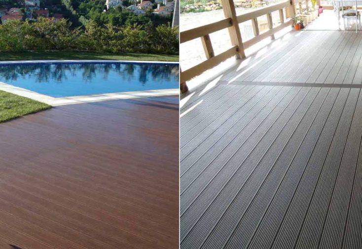 Lames terrasse composite 220x16 lot de 5 chal t jardin - Lame de terrasse composite discount ...