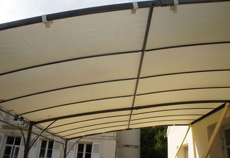 Toile Ombrage Déperlante Ecrue pour Tonnelle Adossée 2x3 Capri