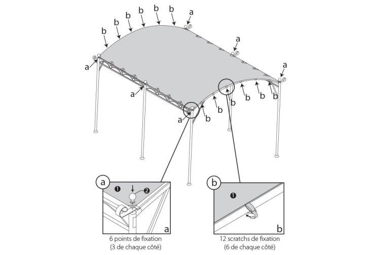 Toile d perlante pour tonnelle illusion 4x3 m toile d 39 ombrage 400 gr m - Toile tonnelle illusion ...