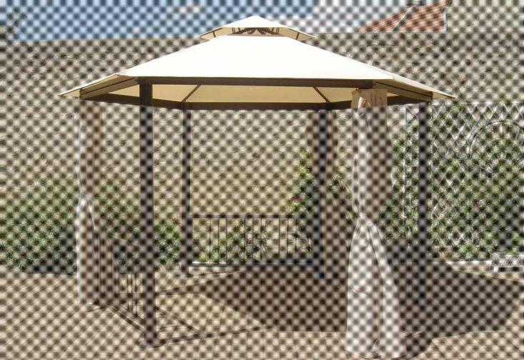 Toile tonnelle dia 3,50 m polyester 220 gr/m² avant 2010