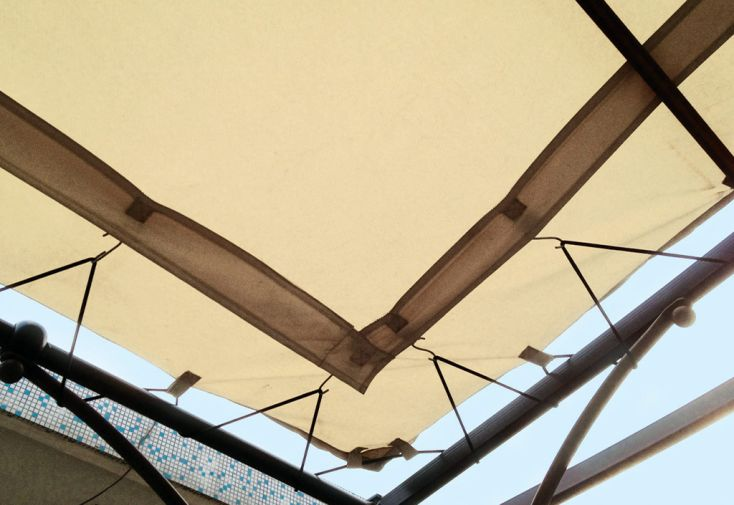 Toile universelle pour pergola adossée 3 x 3 m écrue