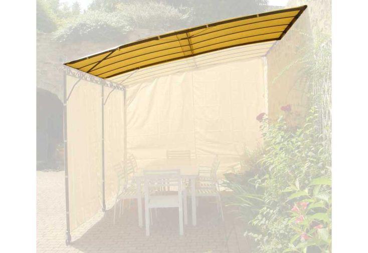 Toile d'ombrage tonnelle 2x3 m extension Seville adossée