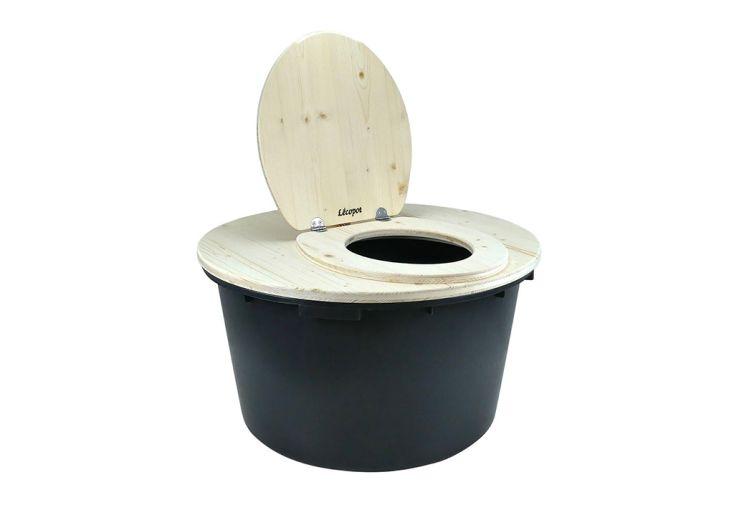 Toilette Sèche en Bois d'Épicéa Lécopot Granhòta 90