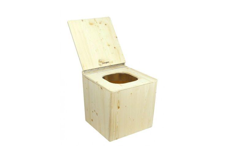 Toilette Sèche en Bois d'Épicéa Lécopot Bugarach 39,5 x 46,5 cm