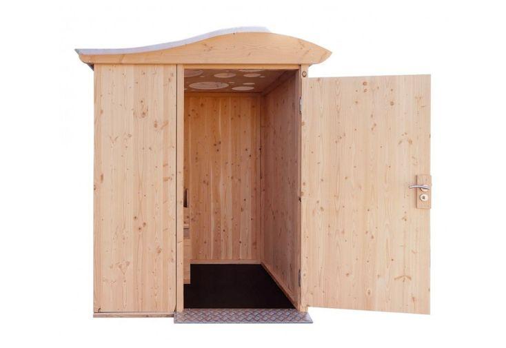 Toilettes Sèches pour Personnes à Mobilité Réduite en Bois d'Épicéa Lécopot LécoBox PMR