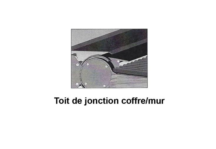 Toit de Jonction Coffre/Mur pour Pergola Neptune 2 Modules