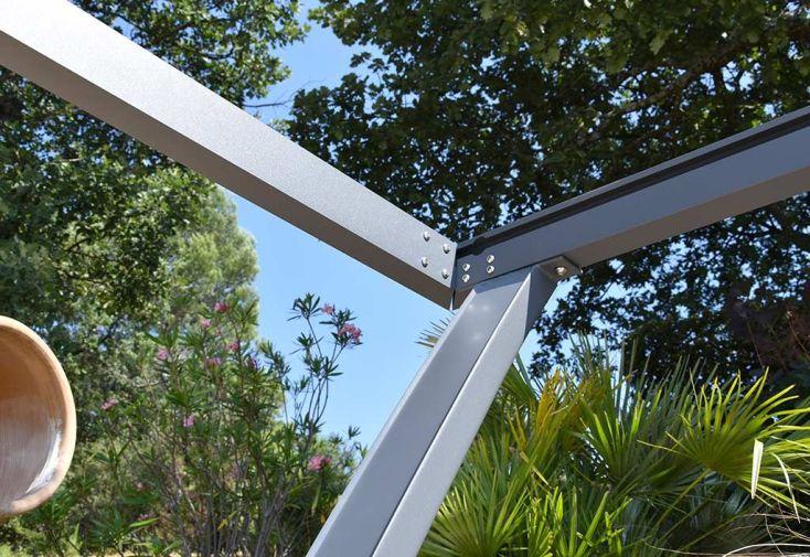 Tonnelle Autoportante Aluminium à Poser + Toile Coulissante 4x3m Palma
