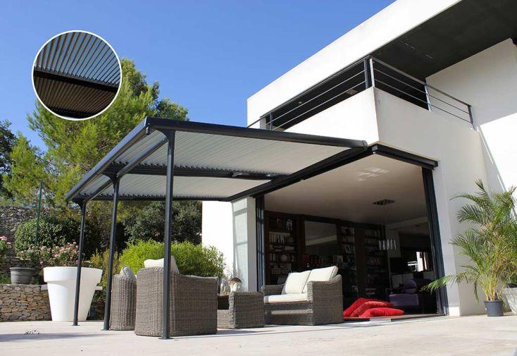 Tonnelle Azura Aluminium à Lames Orientables 3,5 x 4 m