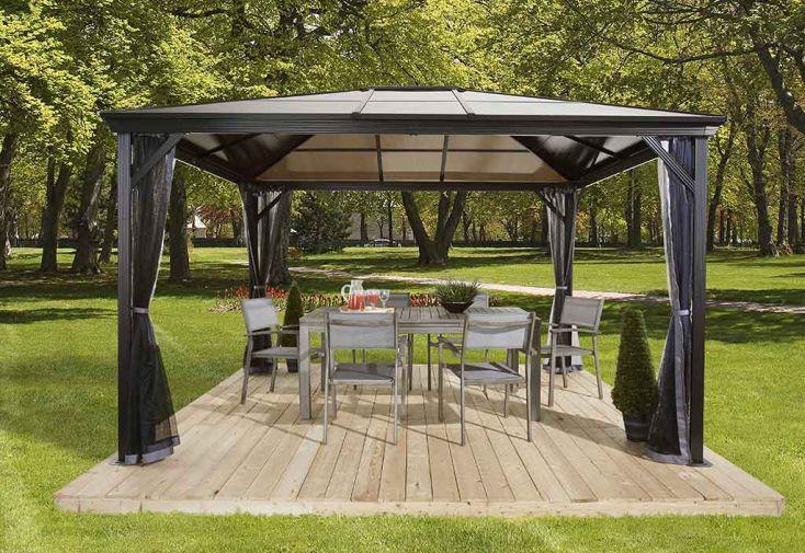 tonnelle en aluminium anthracite et polycarbonate bronze 4. Black Bedroom Furniture Sets. Home Design Ideas