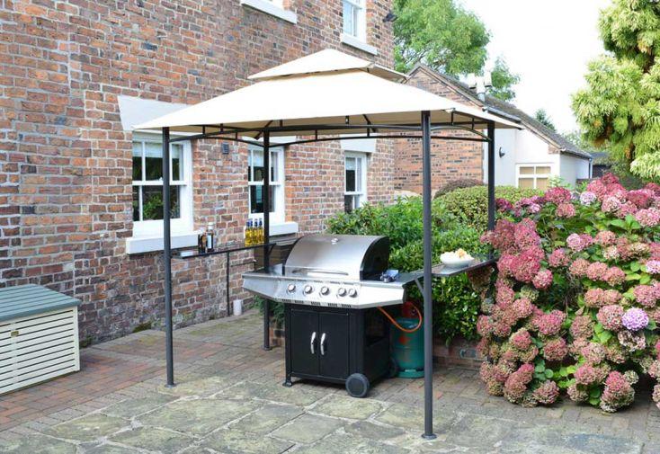Tonnelle en Métal avec Toile pour Barbecue Roma 250x152x250cm