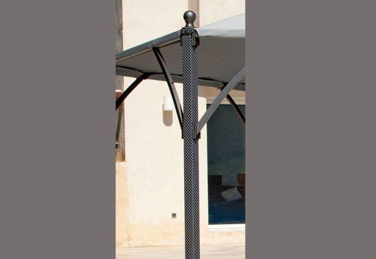 Tonnelle Neptune 5x3m Ajustable 4x3m Pieds Textilène