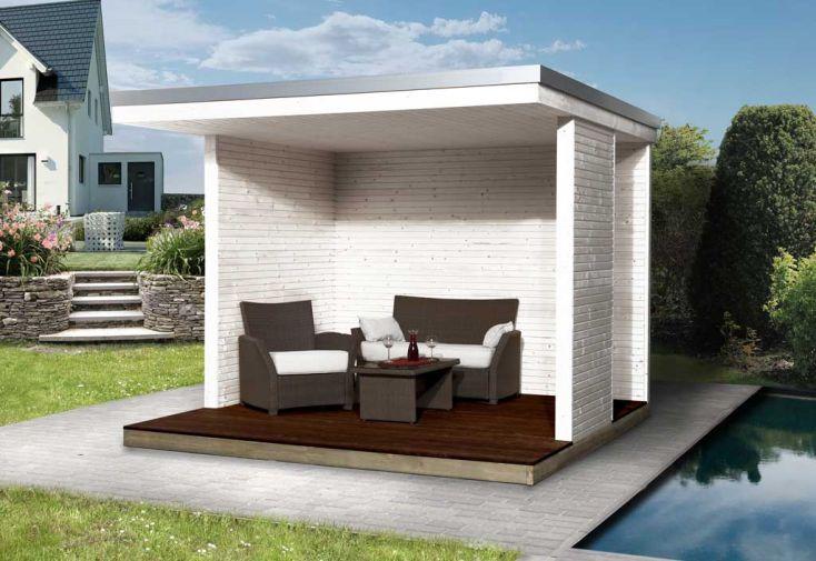Tonnelle Design Bois Tienda (300x200cm) 28mm