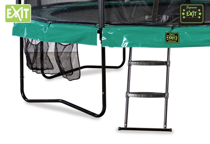 Trampoline supreme all in 1 avec echelle et filet de s curit 366 cm exit - Trampoline d exterieur ...