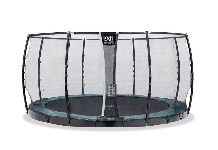 trampoline enterré Exit Toys avec filet de protection pour enfants