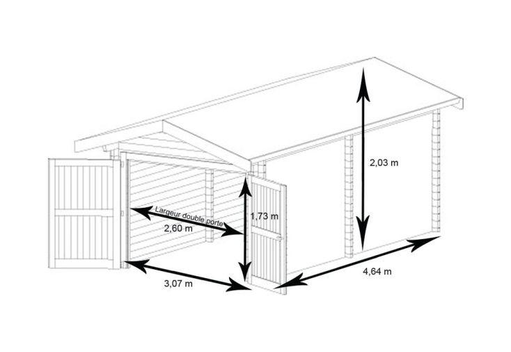 Garage Métal Treco Zincalume (3,07x4,64x2,03)