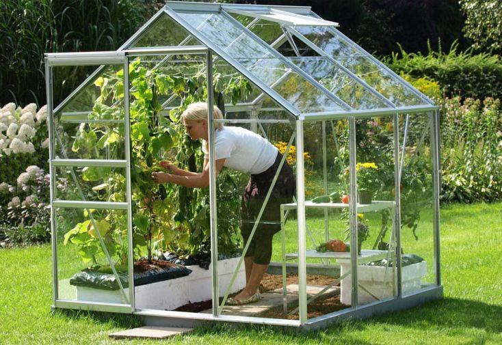 Serre de jardin en Verre Trempé VENUS 3800 Laqué Vert