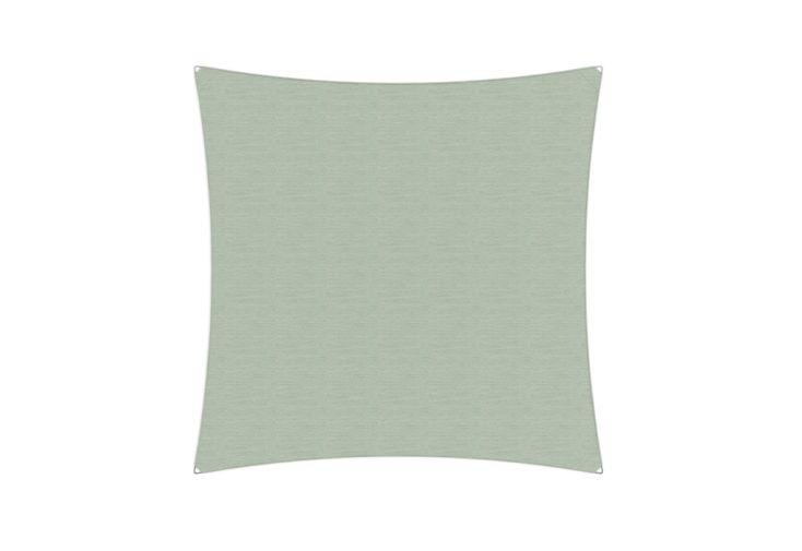 Voile d'ombrage carrée en acrylique pour le jardin 3 x 3 m verte