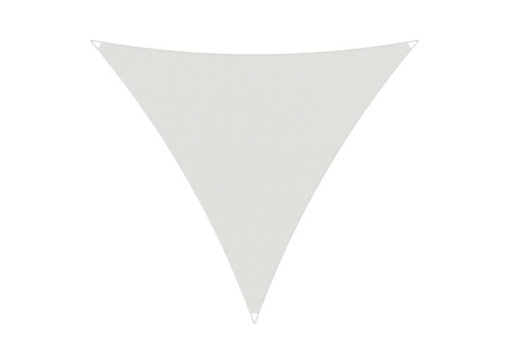 Toile d'ombrage triangulaire blanche en acrylique pour le jardin Umbrosa