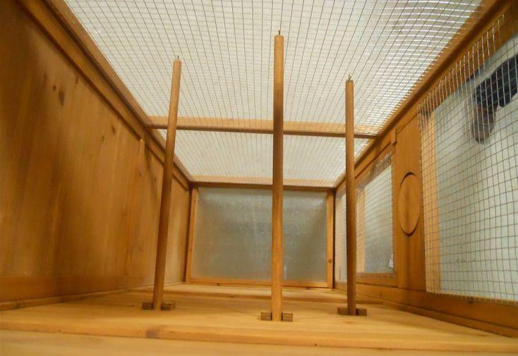 Volière Rectangulaire Pinson (77x55x158cm)
