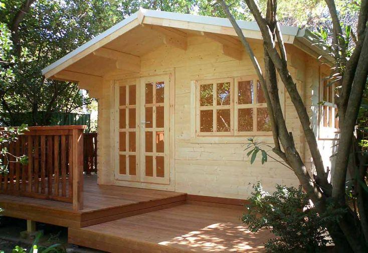 Abri de jardin bois wales 399x299x270 34 mm abri de for Abri de jardin 34mm