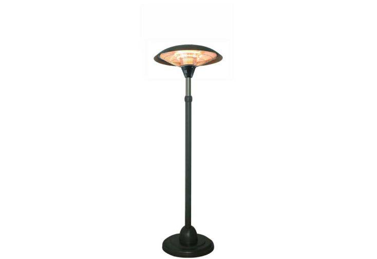 parasol chauffant electrique milan noir r tractable. Black Bedroom Furniture Sets. Home Design Ideas