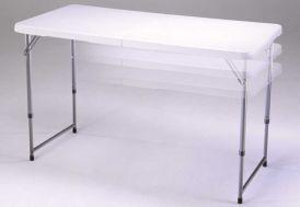 Table Résine Pliante 122x61 Agate - réglable en hauteur - Lot de 20