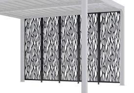 5 panneaux de brise-vues en acier pour pergola bioclimatique Habrita